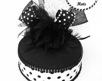 Black and White Polka Dot Party Hat