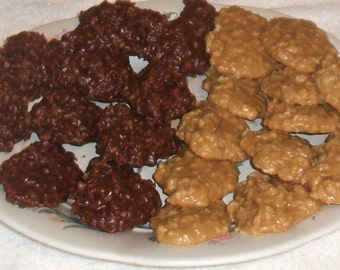 No Bake Chocolate with peanut butter or Peanut Butter Oatmeal Cookies
