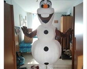 Olaf Snowman Mascot Costume Fluffy Plush Costume Halloween Costume Birthday Costume