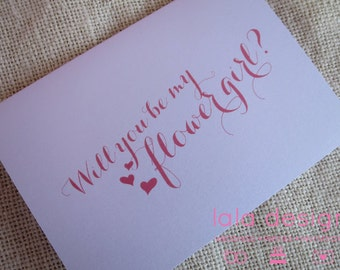 Will You - Flowergirl Attendant Card