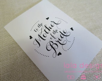 Mother of the Bride - Attendant Card