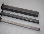 "16""-20"" Square Steel Furniture Leg 1 1/2"" bar"