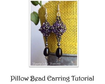 Pillow Bead Earring Tutorial