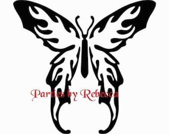 Tribal Butterfly SVG file