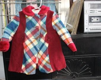 18 month, 2t girl winter coat plaid