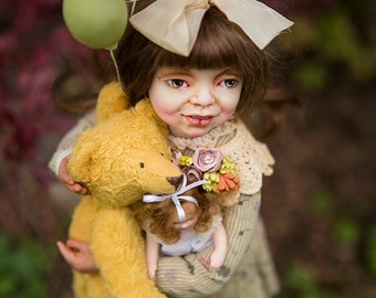 "OOAK art doll ""birthday""  by Elena Balaksheva Dollena"