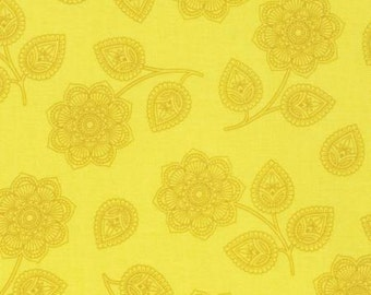 Tula Pink, Mustard Henna, Eden Collection