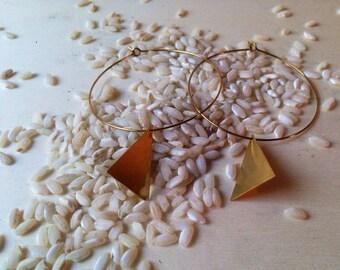 Handmade simple earrings, hoop earrings, gift for her