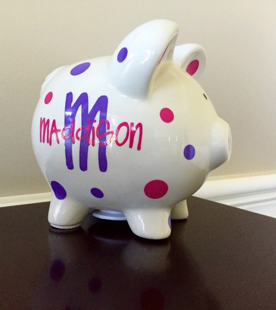 Personalized piggy bank kids piggy bank for Piggy bank for toddlers