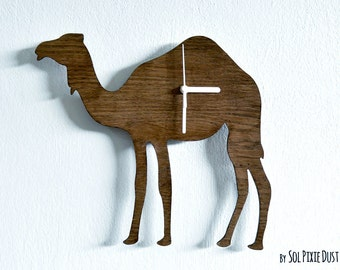 Camel Wooden Wall Clock