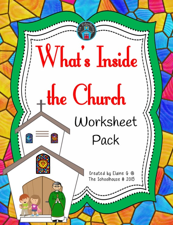 Items Similar To What 39 S Inside The Church Worksheet Pack