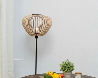 wood lampshade / wooden lampshade / lampshade / round lampshade / lampshades / lamp shade / wood lamp shade