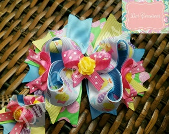 Easter chic colorful headband/hair clip