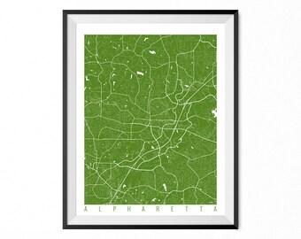 ALPHARETTA Map Art Print / Alpharetta City Poster / Alpharetta Wall Art / Georgia/ Gift / Georgia home decor