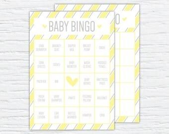 Baby Bingo, Customizable Digital or Printed Shower Game