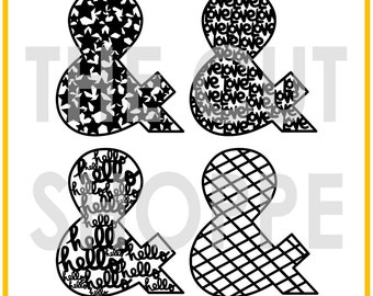 The And Then cut file set includes 4 ampersand designs, that can be used for your scrapbooking and papercrafting projects.