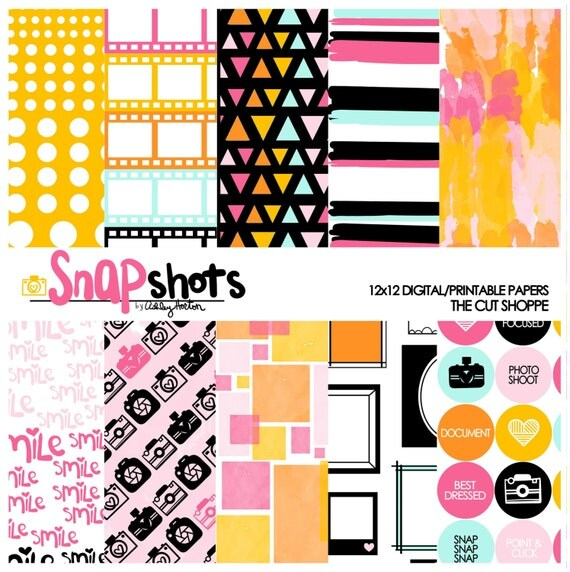 Snapshots is a Digital Scrapbook collection, that can be used in your digital and hybrid scrapbooking, or printed out on your home printer.