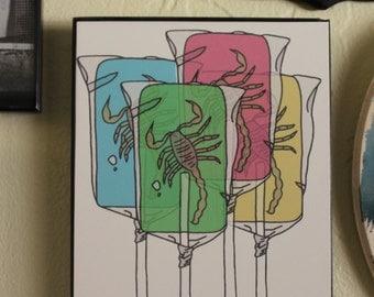 Scorpion Candy Print