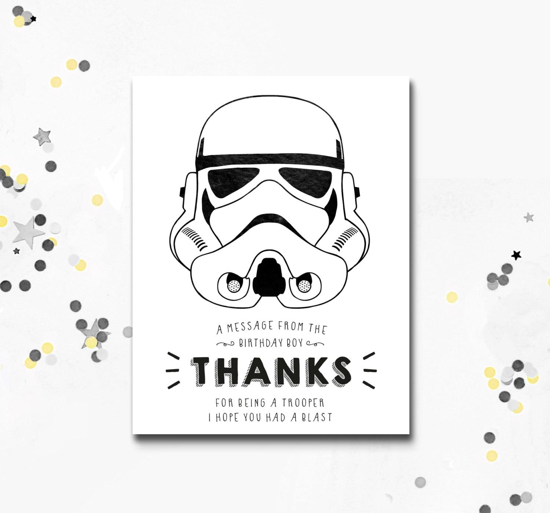 Luxury star wars birthday cards graphics eccleshallfc stormtrooper thank you card star wars printable card darth bookmarktalkfo Images
