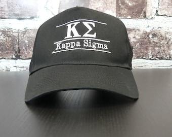 Kappa Sigma Embroidered Black Cap