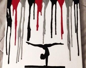 Gymnast Melted Crayon Art