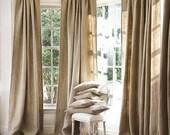 Flash Fall Sale Clearance -All Natural Burlap Curtains, Burlap Window Treatments, Burlap for living room, bedroom