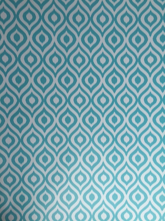 Contact Paper Tuquoise Ikat Adhesive Shelf Liner By Bbbeadsall