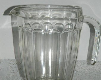 old glass pitcher. Glass pitcher.  . English vintage