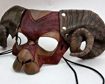 Natural Brown Ram Mask Bighorn Sheep Mask