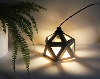 Small Origami lamp gold