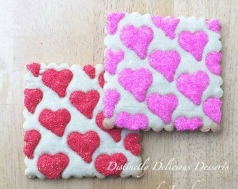 Quilted heart cookies - listing for 1 dozen cookies