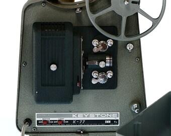 Keystone Movie Projector K-77 8mm Film Working Vintage Equipment Made in U.S.A.