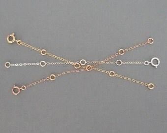 Extenders for Necklaces + Rose Gold Extender + Gold Extender + Silver Extender + Necklace Extender + Bracelet Extender + Minimal Modern & Me