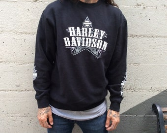 Medium Harley Davidson Riverside CA Longsleeve Super Comfy sweatshirt distressed soft