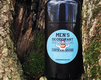Men's Deodorant: Earth and Woods scent- VEGAN/ All Natural Homemade/ Aluminum free