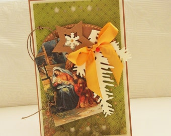 Handmade Christmas Card, handmade greeting card, Christian Christmas Cards