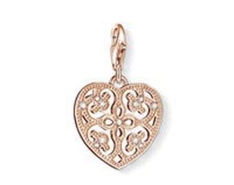 charms argent love coeur arabesque,Bracelet Charm,sterling silver charm,Bracelet européen,pendentif, Style Européen à breloques