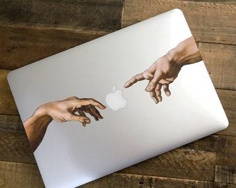 Creative MacBook Laptop decal - sticker - 'The Creation' - macbook sticker - any laptop - Apple decal -  Macbook Pro Laptop Skin