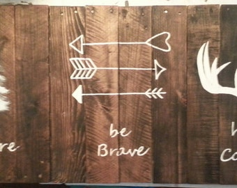 Larger sized Be Brave/Have Courage/Explore painting