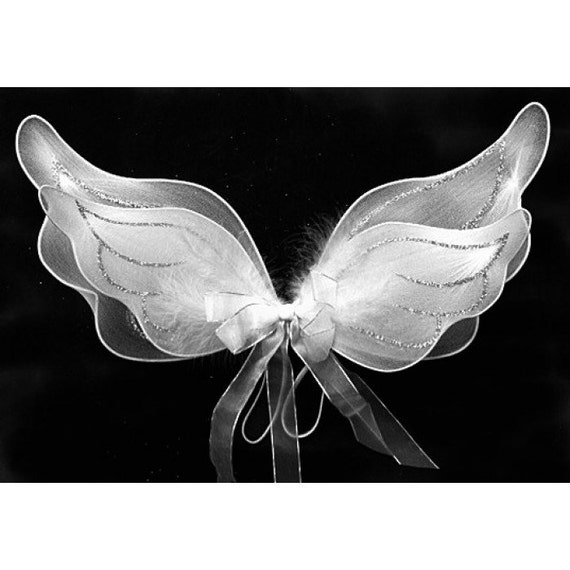 Costume christmas angel infant photo prop white fairy wings