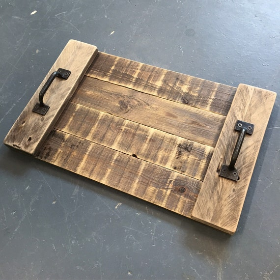 Reclaimed Wood Serving Tray Pallet Wood Serving Tray By