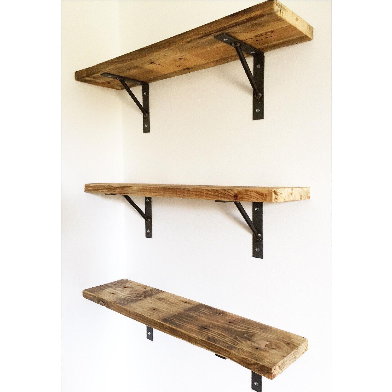 Pallet Wood Shelf: Reclaimed Pallet Wood Shelf / Shelving With Welded By