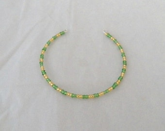 Green and Gold Doll Choker
