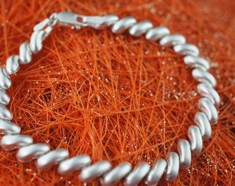 Vintage Art Deco bracelet Mexico Sixtar MS-66 Sterling Silver 925 can marco Bracelet chain   d176