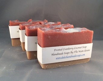 Frosted Cranberry Coconut Soap