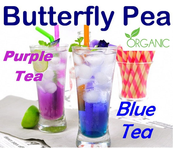 butterfly pea tea how to change colour