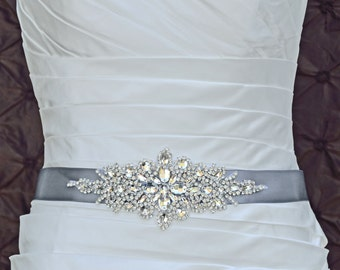 Wedding Belt, Bridal Belt, Sash Belt, Crystal Rhinestone Belt, Wedding Dress Sash, Style 335