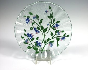 Blueberry Fused Glass Bowl