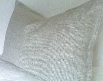 SALE! Schumacher Oatmeal Belgian Linen Pillow Cover