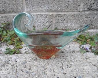 Vintage Murano glass bowl - Murano sommerso - mid century Italian art glass - vintage decor art glass - vintage